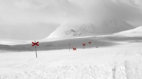 ίχνος σκι πεζοπορίας Στοκ εικόνες με δικαίωμα ελεύθερης χρήσης