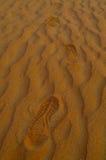 Ίχνος στην άμμο στην έρημο Στοκ φωτογραφία με δικαίωμα ελεύθερης χρήσης