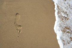 Ίχνος στην άμμο Στοκ Εικόνα