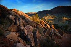 Ίχνος στη λεπτή αψίδα στο εθνικό πάρκο αψίδων, Γιούτα, ΗΠΑ στοκ εικόνα