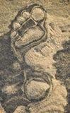 Ίχνος στη σκοτεινή και ελαφριά άμμο στοκ εικόνες με δικαίωμα ελεύθερης χρήσης