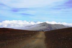 Ίχνος στο ηφαίστειο, Maui Στοκ Φωτογραφία