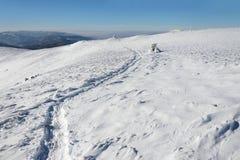 Ίχνος στο χιόνι Στοκ Φωτογραφία