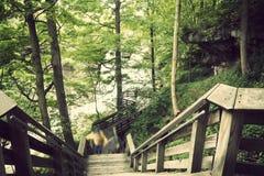 Ίχνος τουριστών στις πτώσεις Brandwine Στοκ φωτογραφία με δικαίωμα ελεύθερης χρήσης