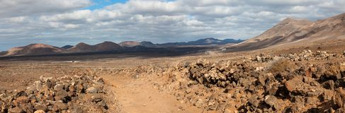 Ίχνος φύσης, Lanzarote, Κανάρια νησιά Στοκ Φωτογραφία
