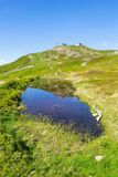 Ίχνος Χ-γραμμών ποδηλατών προς τα κάτω από schattberg-Ost το βουνό, saalbach-Hinterglemm Στοκ φωτογραφία με δικαίωμα ελεύθερης χρήσης
