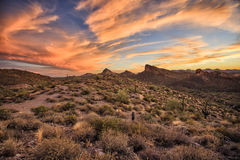 Ίχνος Apache στα φω'τα ηλιοβασιλέματος, Αριζόνα Στοκ φωτογραφία με δικαίωμα ελεύθερης χρήσης