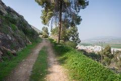 Ίχνος Gilboa δίπλα σε Kibbutz Hephzibah Στοκ Φωτογραφίες
