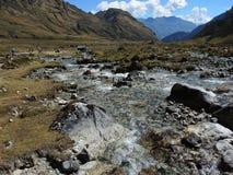 Ίχνος Inca Salkantay, Περού Στοκ εικόνα με δικαίωμα ελεύθερης χρήσης