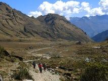Ίχνος Inca Salkantay σε Cusco, Περού Στοκ Φωτογραφίες