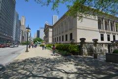 Ίδρυμα τέχνης του Σικάγου στο Μίτσιγκαν Ave στοκ εικόνες