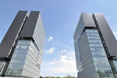 δίδυμο πύργων έκθεσης Στοκ Φωτογραφία