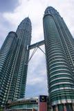 δίδυμο πύργων petronas της Μαλαι&si Στοκ Φωτογραφία