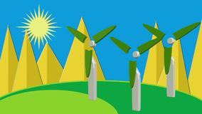 Αέρας ήλιων καθαρής ενέργειας ηλιακός ελεύθερη απεικόνιση δικαιώματος