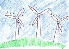 αέρας αγροτικών στροβίλων ελεύθερη απεικόνιση δικαιώματος