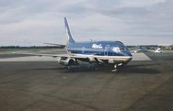 Αέρας Αλάσκα Boeing β-737 Wien σε Fairbanks μετά από μια πτήση από το Anchorage το 1982 Στοκ φωτογραφία με δικαίωμα ελεύθερης χρήσης