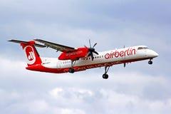 Αέρας Βερολίνο Bombardier de Havilland DHC-8 Q400 Στοκ εικόνα με δικαίωμα ελεύθερης χρήσης