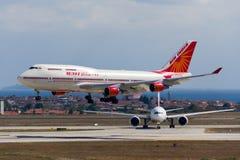 Αέρας Ινδία Boeing 747 Στοκ Εικόνες