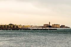 Αέρας στην αποβάθρα της Τεργέστης Στοκ Εικόνες