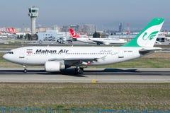 Αέρας EP-MMN Mahan, airbus A310-304 Στοκ Φωτογραφία
