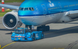 Αέρας France†«KLM Στοκ φωτογραφία με δικαίωμα ελεύθερης χρήσης