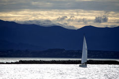 Αέρας Sailboard surfer Στοκ εικόνα με δικαίωμα ελεύθερης χρήσης