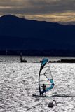 Αέρας Sailboard surfer Στοκ Εικόνες