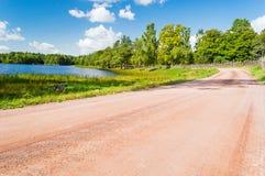αέρα μπλε σύννεφων ουρανός της οδικής Σικελίας πανοράματος χωρών ανοικτός Στοκ Εικόνα