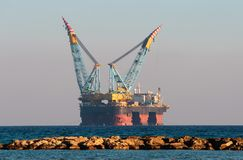 Αέριο & πλατφόρμα άντλησης πετρελαίου Στοκ Εικόνες