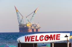 Αέριο & πλατφόρμα άντλησης πετρελαίου Στοκ Φωτογραφία
