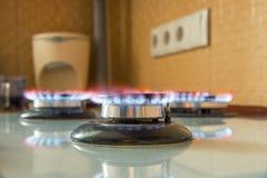 Αέριο που καίει την μπλε φλόγα Στοκ Εικόνα