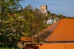 Αίγα Castle Πύργος πυροβολικού αναγέννησης στοκ εικόνες με δικαίωμα ελεύθερης χρήσης