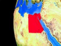 Αίγυπτος από το διάστημα διανυσματική απεικόνιση
