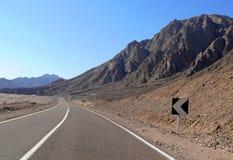 Αίγυπτος. Δρόμος. Θέες βουνού. Φύση της Αιγύπτου. Στοκ εικόνα με δικαίωμα ελεύθερης χρήσης