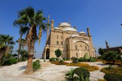 Αίγυπτος Κάιρο Το μουσουλμανικό τέμενος του Mohammed Ali βρίσκεται στην ακρόπολη στο Κάιρο στοκ φωτογραφία με δικαίωμα ελεύθερης χρήσης