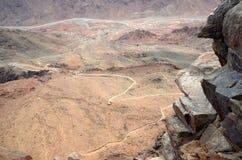 Αίγυπτος, Μωυσής Mountain στον κορυφαίο τρόπο Στοκ Εικόνες