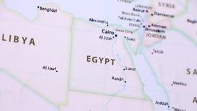 Αίγυπτος σε έναν χάρτη με Defocus ελεύθερη απεικόνιση δικαιώματος