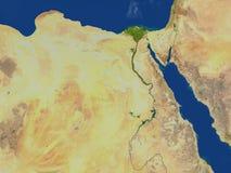 Αίγυπτος στο πλανήτη Γη διανυσματική απεικόνιση