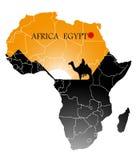 Αίγυπτος στο χάρτη της Αφρικής ελεύθερη απεικόνιση δικαιώματος