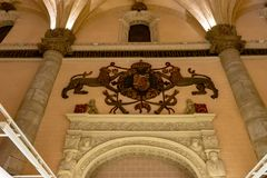 Αίθουσα έκθεσης Λα Lonja σε Σαραγόσα, Ισπανία στοκ εικόνες
