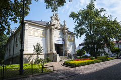 Αίθουσα έκθεσης του Art Deco στο πάρκο Κρακοβία Πολωνία Planty Στοκ εικόνες με δικαίωμα ελεύθερης χρήσης