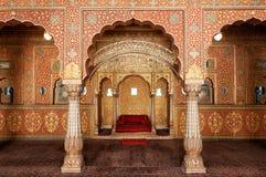 Αίθουσα ακροατηρίων στο οχυρό Junagarh, Bikaner, Ινδία στοκ φωτογραφία