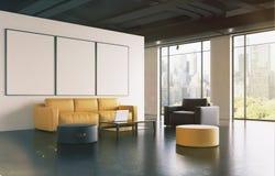 Αίθουσα αναμονής γραφείων: καναπές, στοά, πλευρά που τονίζεται απεικόνιση αποθεμάτων
