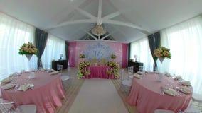 Αίθουσα γαμήλιου συμποσίου απόθεμα βίντεο
