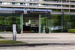 Αίθουσα εισόδων αυτοκινήτων Rolls-$l*royce στο εργοστάσιο αυτοκινήτων Goodwood Στοκ φωτογραφία με δικαίωμα ελεύθερης χρήσης