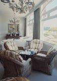 Αίθουσα εισόδων στο κλασικό ξενοδοχείο Στοκ φωτογραφία με δικαίωμα ελεύθερης χρήσης