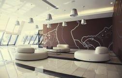 Αίθουσα εισόδων στο σύγχρονο ξενοδοχείο Στοκ εικόνα με δικαίωμα ελεύθερης χρήσης