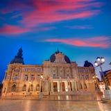 Αίθουσα Ισπανία Ayuntamiento de Καρχηδόνα Murciacity Στοκ Εικόνες
