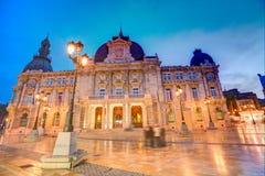 Αίθουσα Ισπανία Ayuntamiento de Καρχηδόνα Murciacity Στοκ εικόνα με δικαίωμα ελεύθερης χρήσης