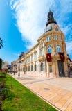 Αίθουσα Ισπανία Ayuntamiento de Καρχηδόνα Murciacity Στοκ φωτογραφίες με δικαίωμα ελεύθερης χρήσης